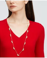Ann Taylor - Metallic Modern Classic Beaded Necklace - Lyst