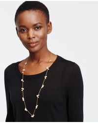 Ann Taylor | Metallic Modern Classic Beaded Necklace | Lyst