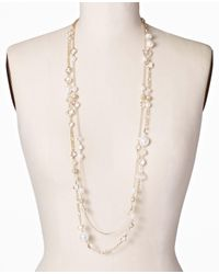 Ann Taylor - Metallic Modern Classic Double Strand Necklace - Lyst
