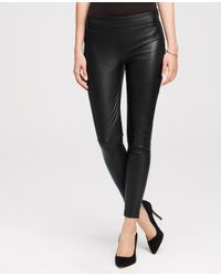 Ann Taylor Black Petite Faux Leather Leggings