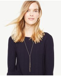 Ann Taylor - Metallic Stellar Lariat Necklace - Lyst