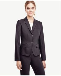 Ann Taylor | Black Tropical Wool Two Button Jacket | Lyst
