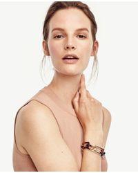 Ann Taylor | Metallic Chain Link Tortoiseshell Print Bracelet | Lyst