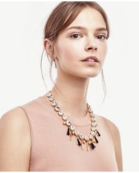 Ann Taylor - Metallic Mixed Charm Necklace - Lyst