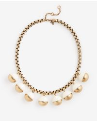 Ann Taylor - Metallic Metal Resin Bauble Necklace - Lyst