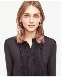 Ann Taylor - Green Jeweled Flower Earrings - Lyst