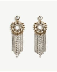Ann Taylor | Metallic Crystal Chandelier Earrings | Lyst