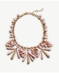 Ann Taylor | Pink Disc Charm Statement Necklace | Lyst
