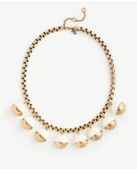 Ann Taylor | Metallic Metal Resin Bauble Necklace | Lyst