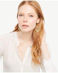 Ann Taylor - Multicolor Star Charm Hoop Earrings - Lyst