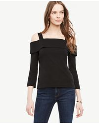 Ann Taylor | Black Strappy Off The Shoulder Top | Lyst