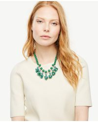 Ann Taylor - Green Bauble Statement Necklace - Lyst