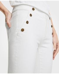 Ann Taylor White Tall Sailor Skinny Crop Jeans
