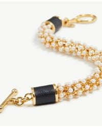 Ann Taylor - Metallic Pearlized Wrap Bracelet - Lyst