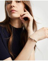 Ann Taylor - White Stone Cuff Bracelet - Lyst