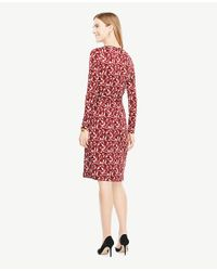 Ann Taylor - Red Petite Floral Wrap Dress - Lyst