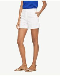 Ann Taylor White Petite Sailor Shorts