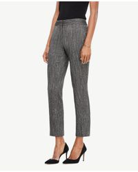 Ann Taylor | Black The Tall Ankle Pant In Herringbone - Kate Fit | Lyst