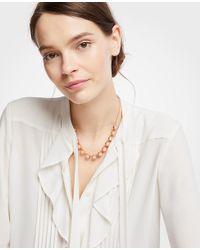 Ann Taylor - Multicolor Hexagon Stone Slider Necklace - Lyst