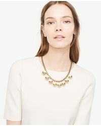 Ann Taylor Metallic Metal Resin Bauble Necklace