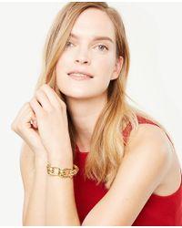Ann Taylor - Metallic Chunky Link Bracelet - Lyst