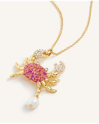 Ann Taylor Metallic Crab Pendant Necklace