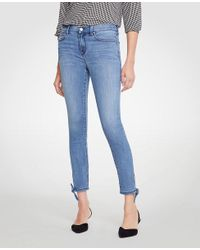 Ann Taylor - Blue Modern Ankle Tie All Day Skinny Crop Jeans - Lyst