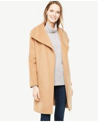 Ann Taylor Natural Wrap Coat