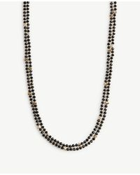Ann Taylor - Black Beaded Layering Necklace - Lyst