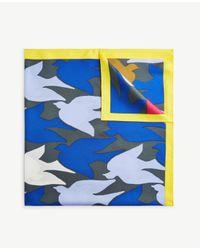 Ann Taylor Multicolor Migrating Birds Silk Little Scarf