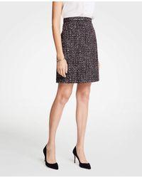 Ann Taylor Black Tweed A-line Skirt
