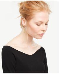 Ann Taylor - Metallic Tassel Mini Earrings - Lyst