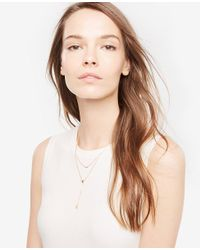 Ann Taylor | Metallic Delicate Layered Necklace | Lyst