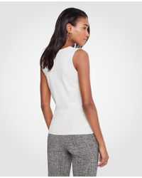 Ann Taylor - White Cowl Neck Sweater Shell - Lyst