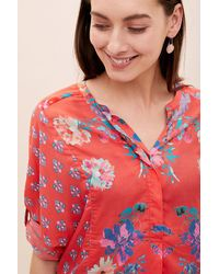 Tolani Red Jessa Printed Blouse