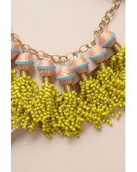 Anthropologie | Yellow Ava Tassel Drop Necklace | Lyst