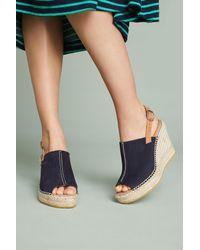 Anthropologie - Blue Espadrille Wedge Sandals - Lyst