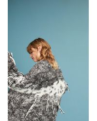 Laura Siegel | Gray Hand-knit Oversized Cardigan | Lyst