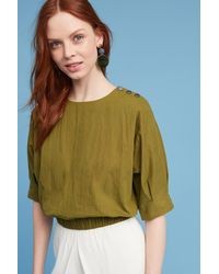 Anthropologie | Paola Banded Top, Green | Lyst