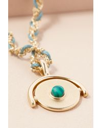 Anthropologie | Blue Lolita Disk Necklace | Lyst