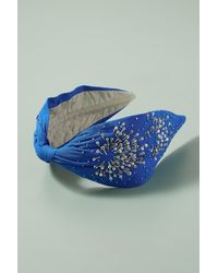 Anthropologie Embellished Turban Headband in Blue - Lyst b67e412e0b4