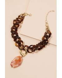 Anthropologie - Brown Rosella Tortoiseshell Necklace - Lyst
