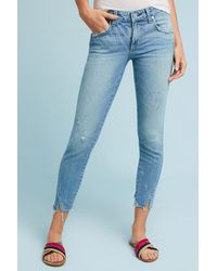 AMO - Blue Twist Mid-rise Skinny Cropped Jeans - Lyst