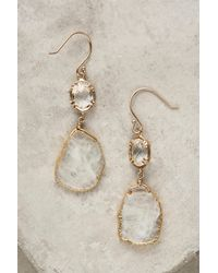 Anthropologie - White Reflection Drops - Lyst