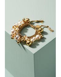 Venessa Arizaga | Metallic Pearl Drop Bracelet | Lyst