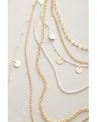 Anthropologie | Metallic Dressmaker Layer Necklace | Lyst