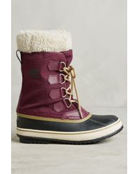 Sorel   Brown Winter Carnival Purple Snow Boot   Lyst