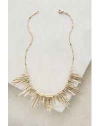 Anthropologie | Metallic Fringed Soleil Necklace | Lyst