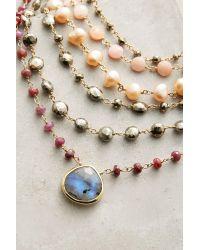 Ela Rae - Multicolor Layered Moonstone Choker - Lyst