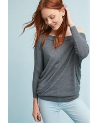 Moth Gray Kriss Slouched Pullover